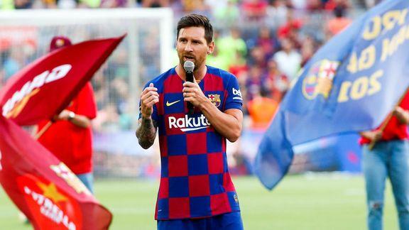 Lionel Messi s'est montré ambitieux dans un discours au Camp Nou — Barça