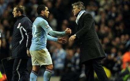 City : Mancini traite Tévez de menteur !