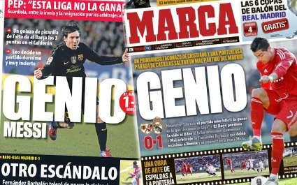 Les « génies » Ronaldo et Messi enflamment l'Espagne
