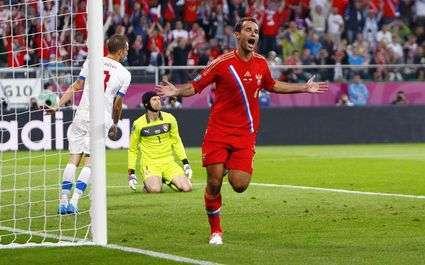 Résultat Euro 2012 : la Russie étrille la République Tchèque !