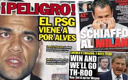 PSG : la presse catalane craint de voir partir Daniel Alves