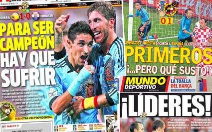 Euro 2012 : L'Espagne reconnaît sa frayeur