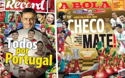 La presse portugaise se voit déjà en demie