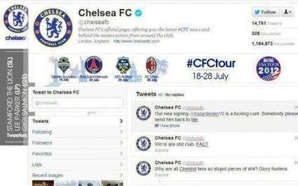 Le compte Twitter de Chelsea piraté