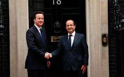 JO 2012 - Handball : Cameron avec Hollande contre l'Espagne