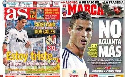Le cas Ronaldo déchaîne la presse espagnole