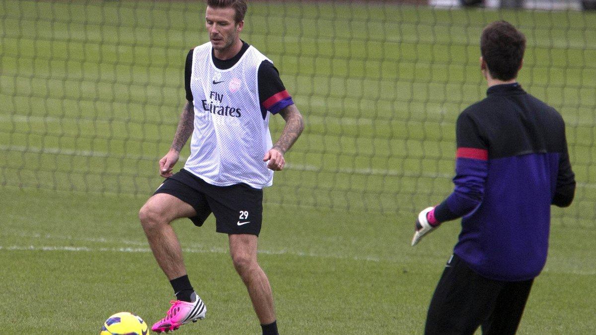 Beckham s'entraîne avec Arsenal