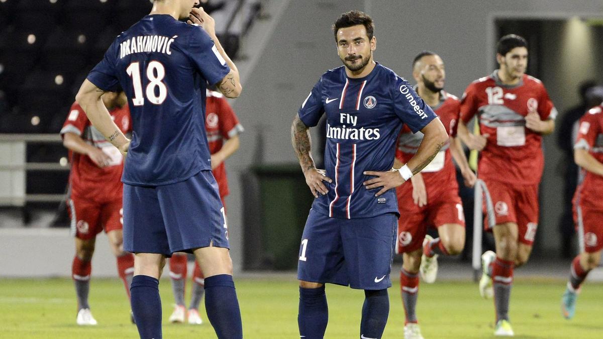 Zlatan Ibrahimovic, Ezequiel Lavezzi - PSG