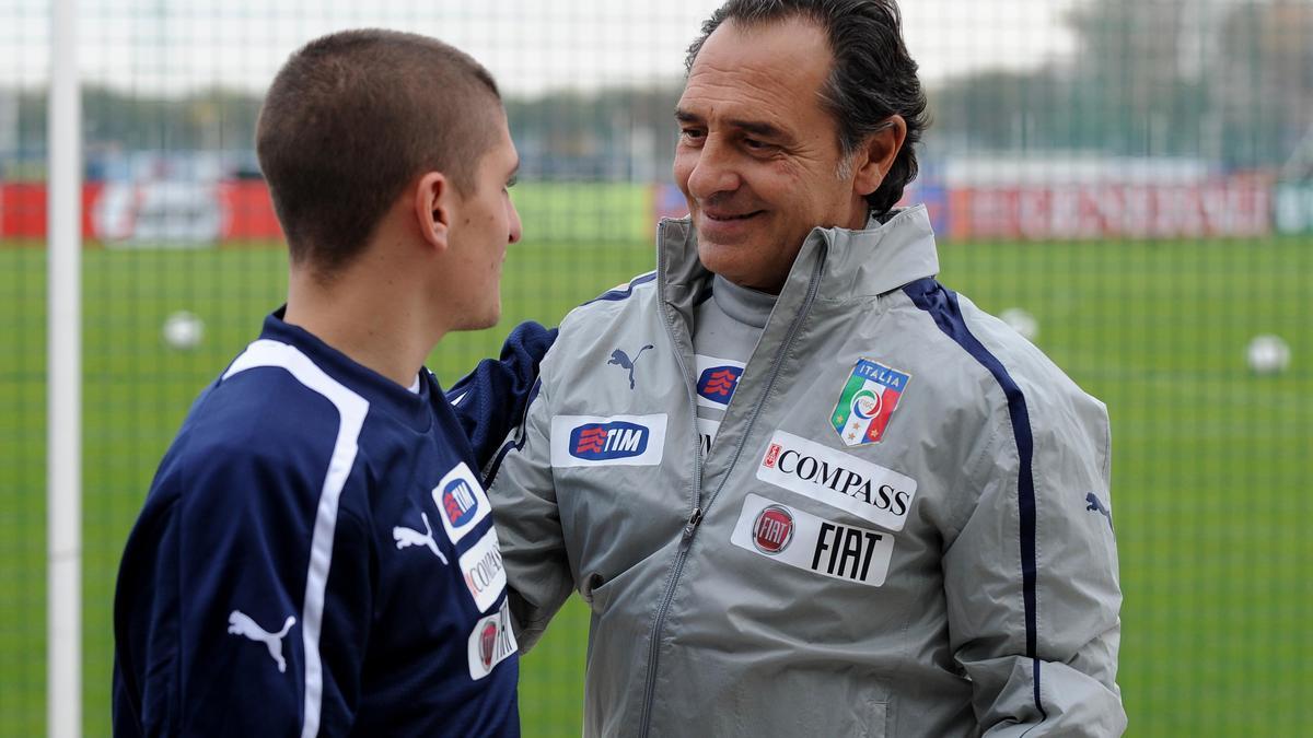 Cesare Prandelli, Marco Verratti - Italie