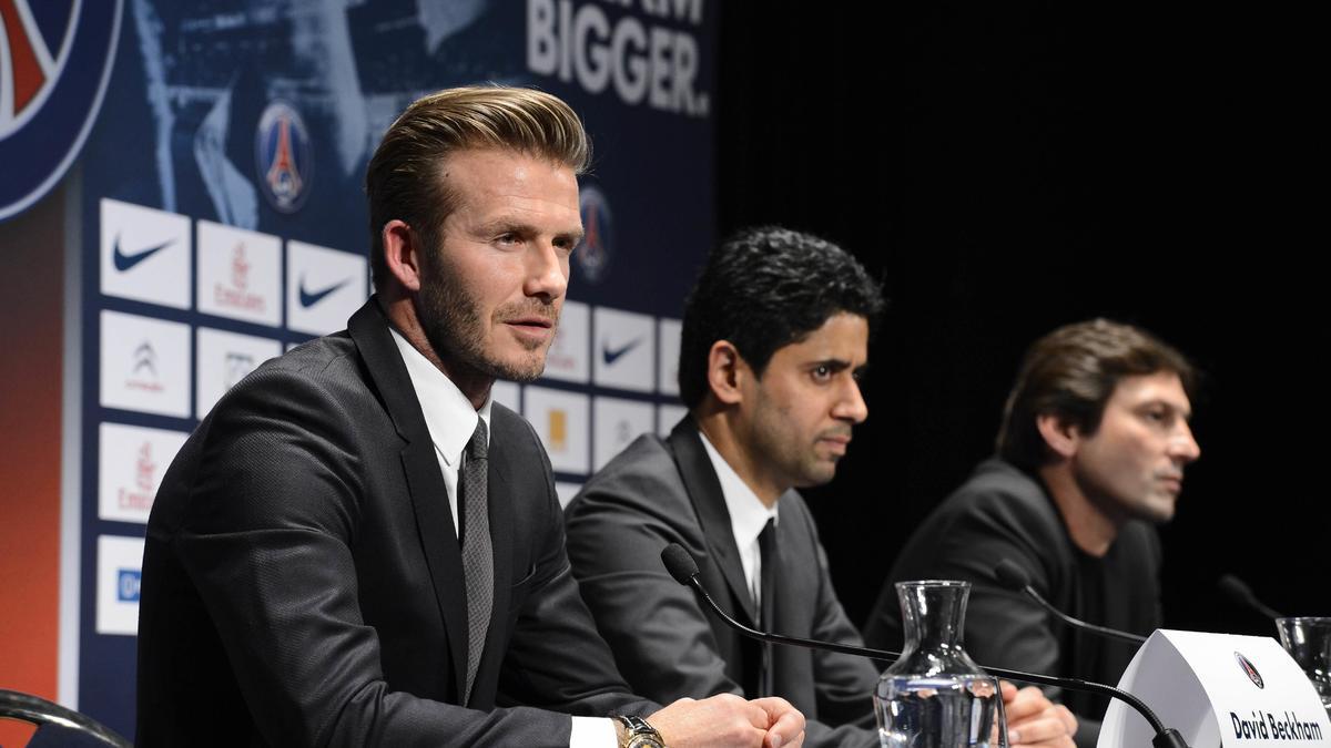 David Beckham, Nasser Al-Khelaifi et Leonardo