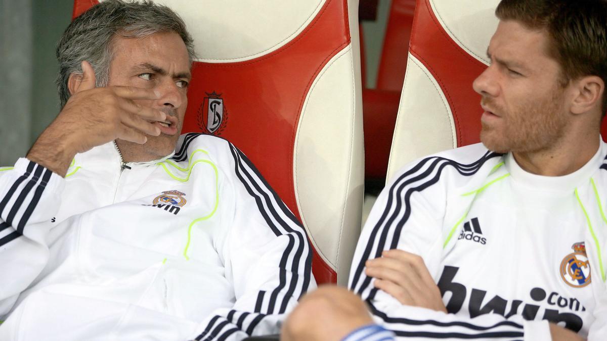 José Mourinho et Xabi Alonso