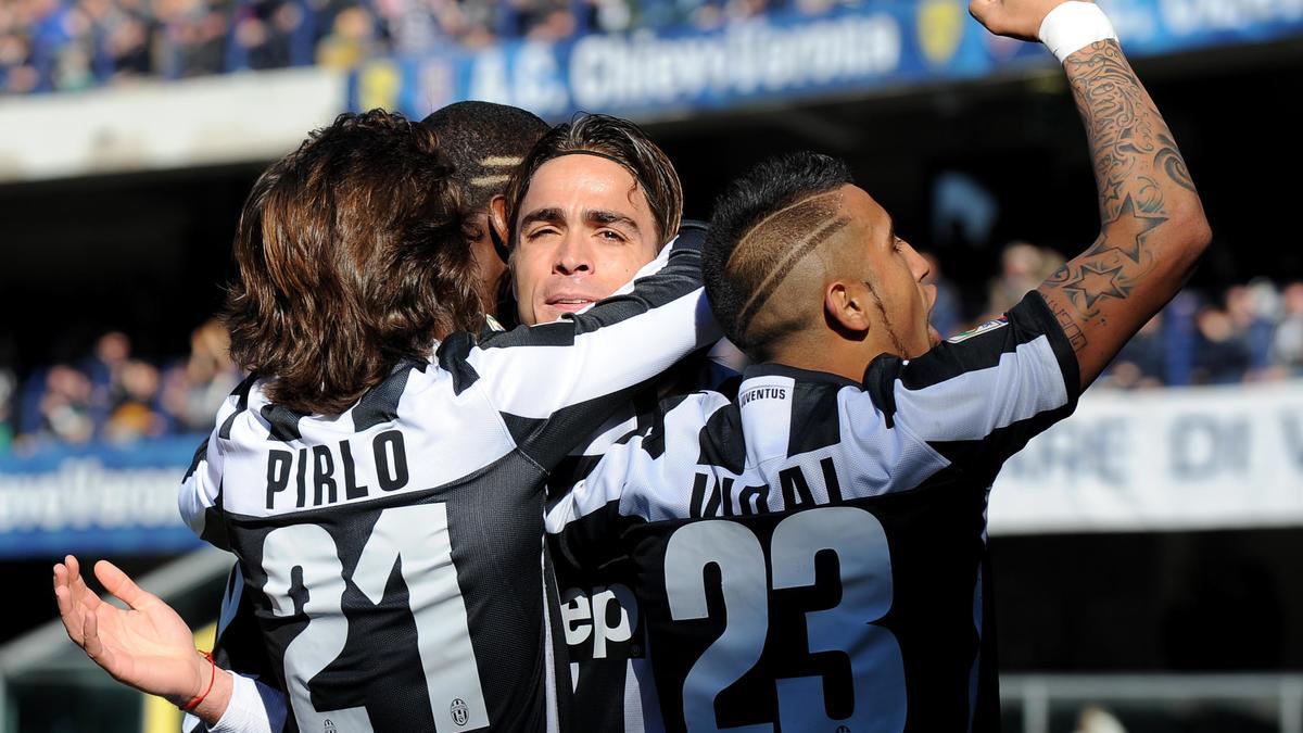 Matri, Pirlo , Vidal, Juventus