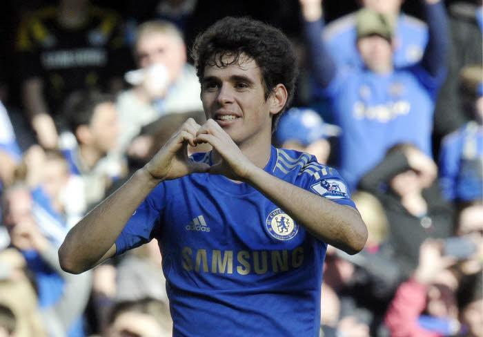 Oscar Chelsea coeur heart