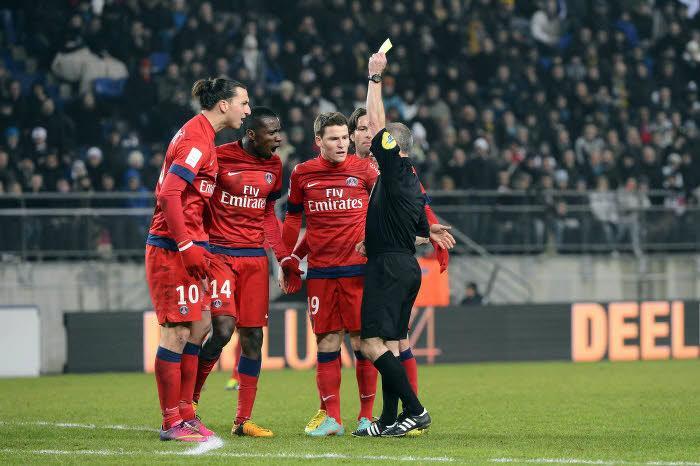 Zlatan Ibrahimovic PSG Sochaux Carton jaune