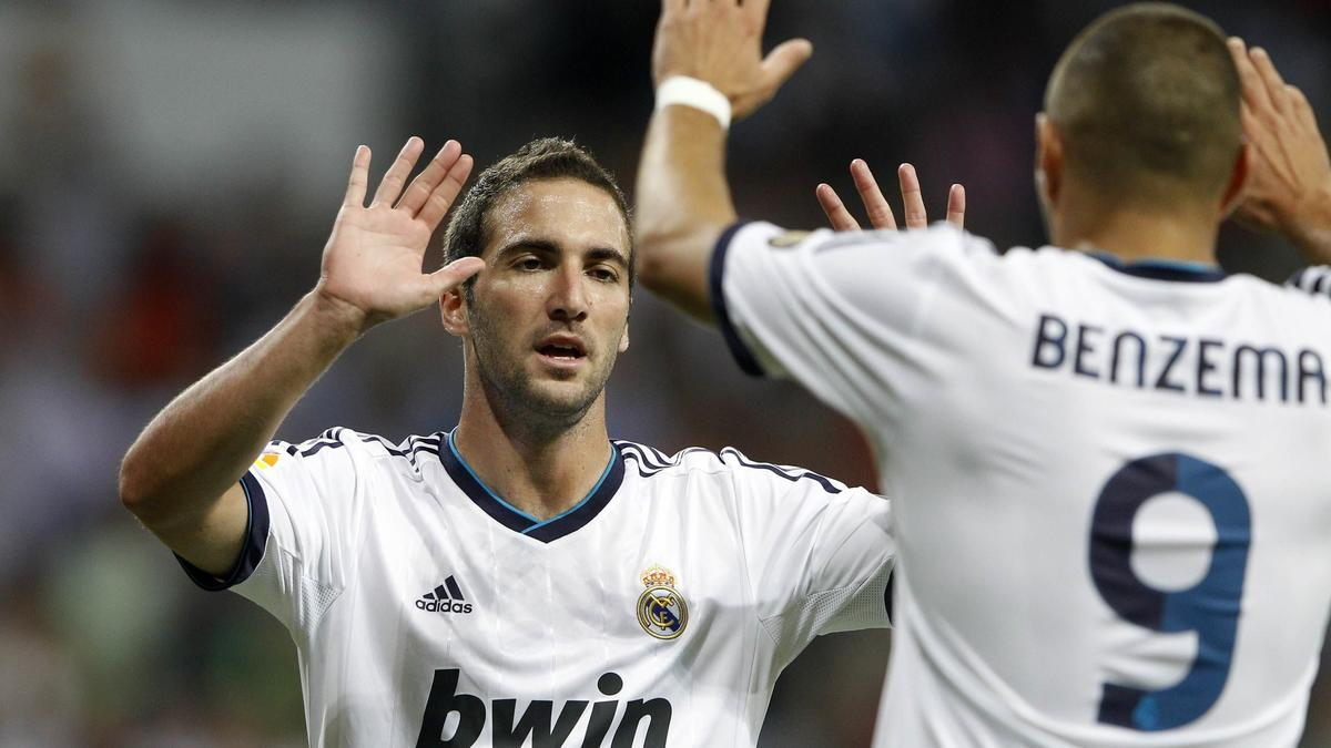 Gonzalo Higuain et Karim Benzema