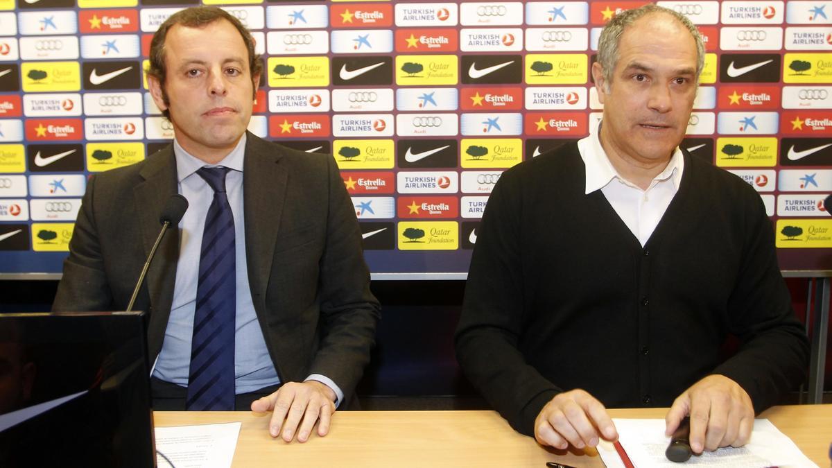 Sandro Rosell et Andoni Zubizarreta, FC Barcelone
