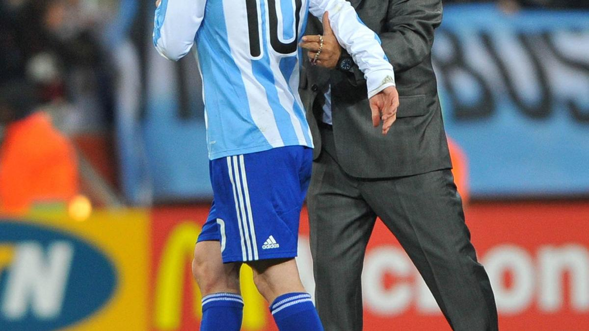 Leo Messi et Diego Maradona, Argentine