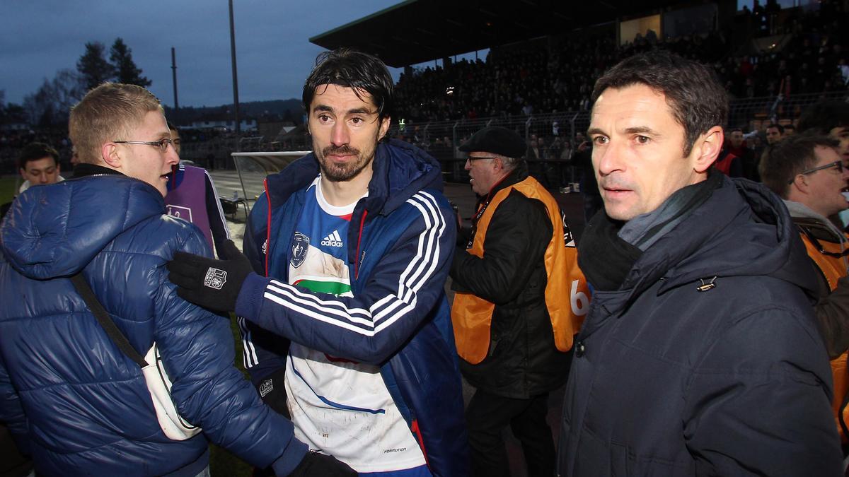 Milan Bisevac et Rémi Garde, OL