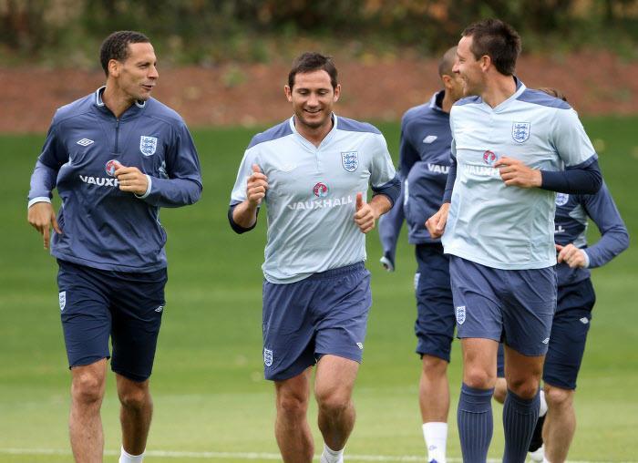 Rio Ferdinand et Frank Lampard, en 2011