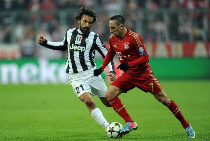 Franck Ribéry et Andrea Pirlo
