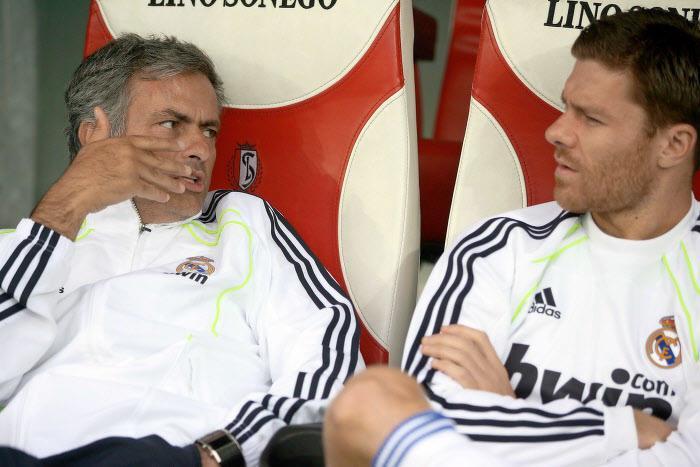 José Mourinho et Xabi Alonso, Real Madrid