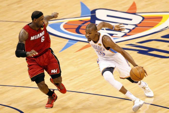 LeBron James et Kevin Durant, finales NBA 2012
