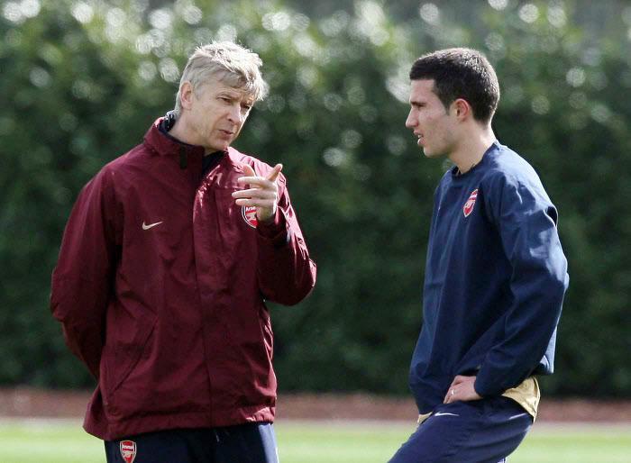 Arsène Wenger et Robin Van Persie, Arsenal