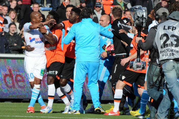 Altercation Lorient-OM