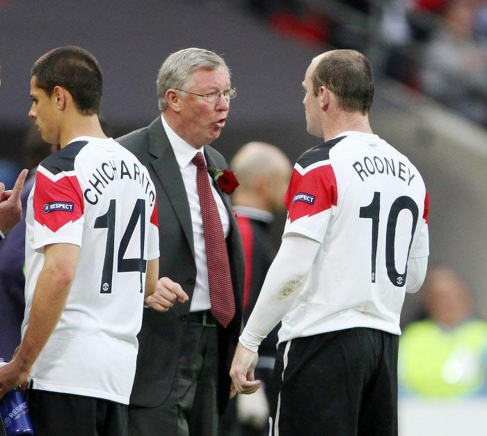 Sir Alex Ferguson et Wayne Rooney, Manchester United