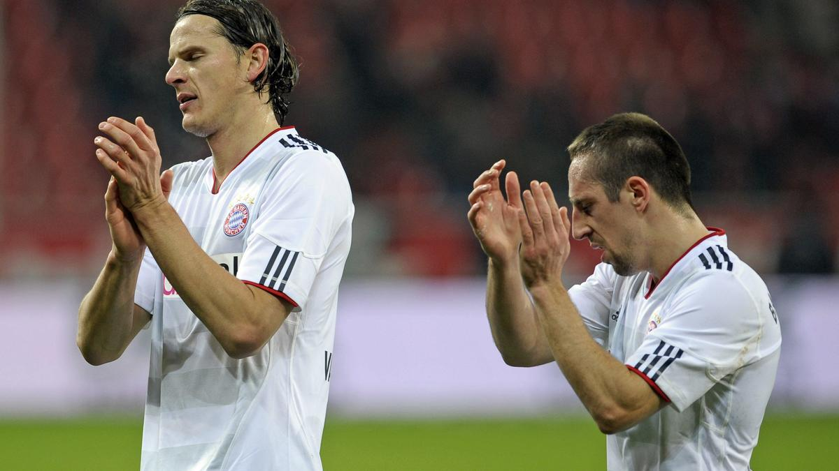 Daniel Van Buyten et Franck Ribéry