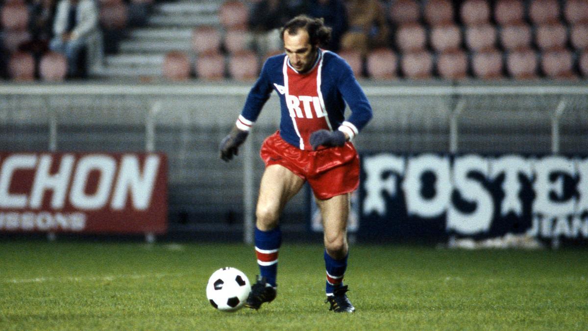 Carlos Bianchi sous le maillot du PSG dans les années 70
