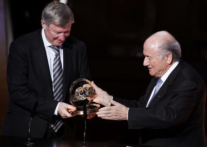 Joseph Blatter et Sir Alex Ferguson
