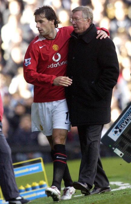 Ruud Van Nistelrooy et Ferguson