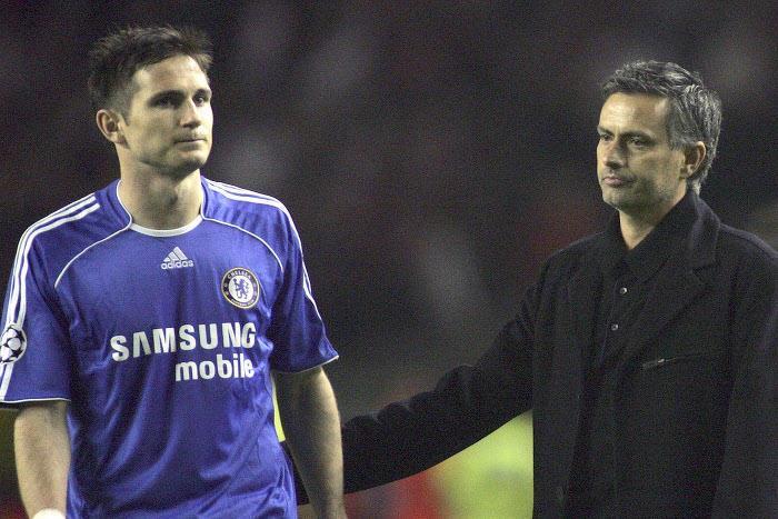 Frank Lampard et José Mourinho, en 2007