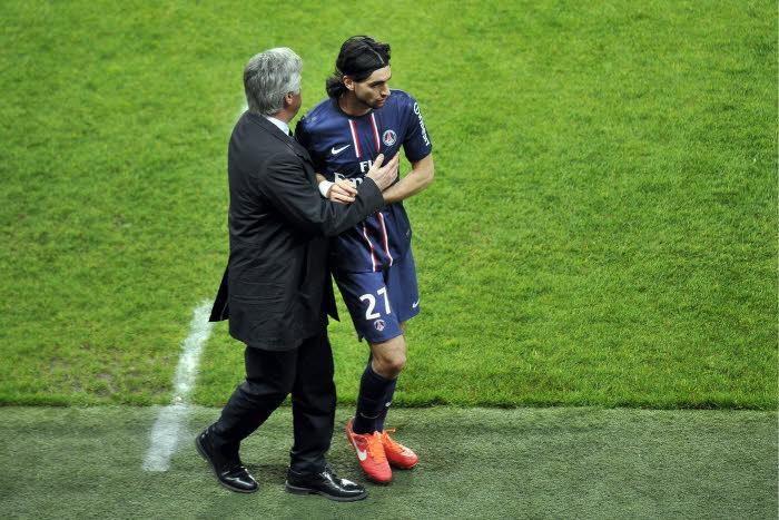 Carlo Ancelotti & Javier Pastore