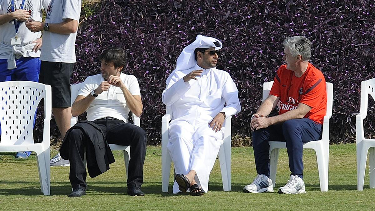 Nasser Al-Khelaïfi - Carlo Ancelotti