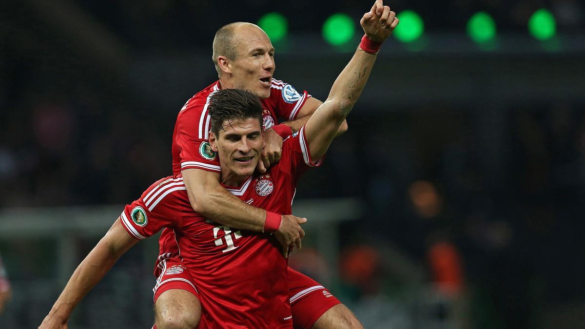 Mario Gomez et Arjen Robben