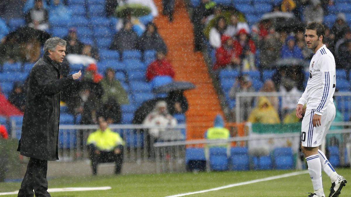 José Mourinho et Gonzalo Higuain