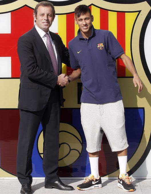 Sandro Rosell & Neymar