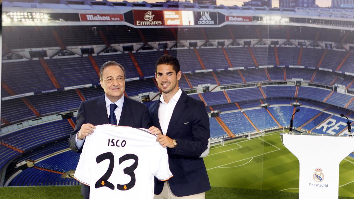 Isco et Florentino Pérez