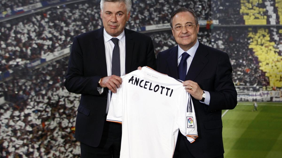 Carlo Ancelotti et Florentino Pérez