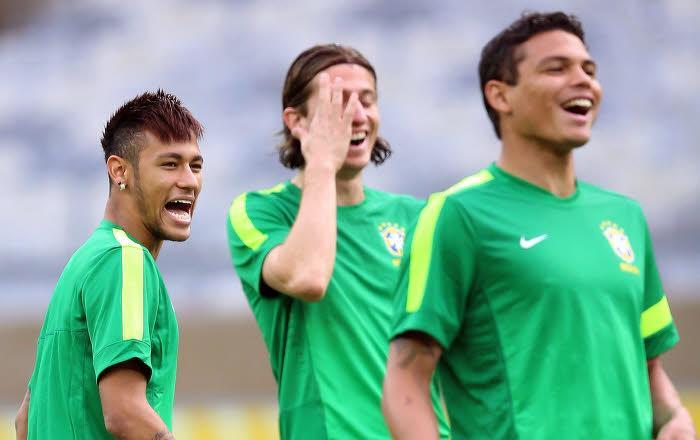Thiago SIlva & Neymar
