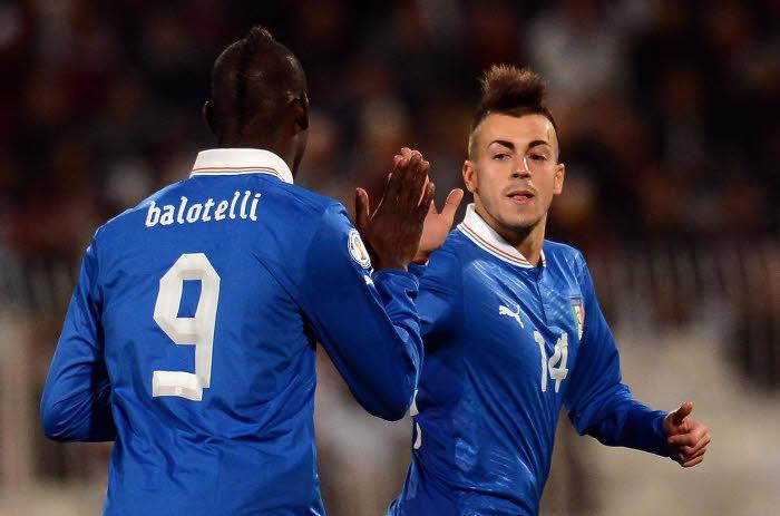 Balotelli & El Shaarawy avec la Squadra Azzurra