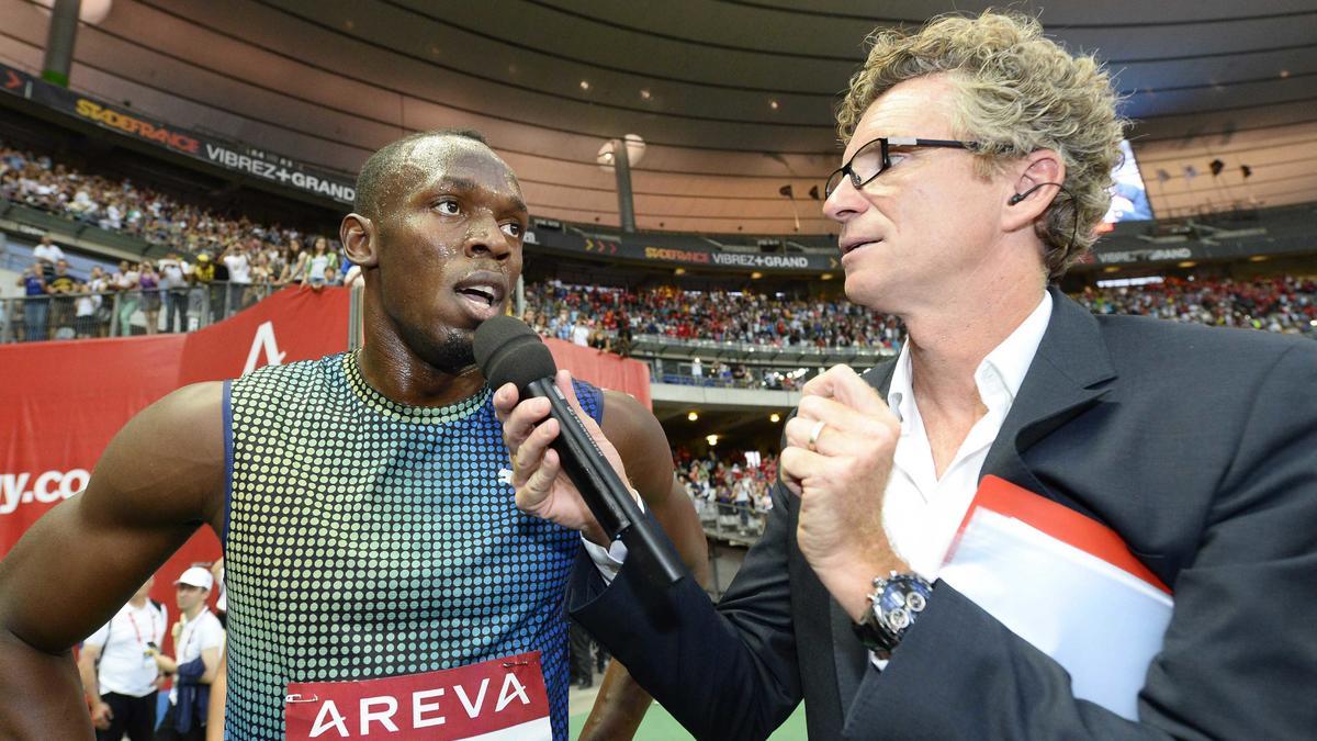 Usain Bolt et Denis Brogniart