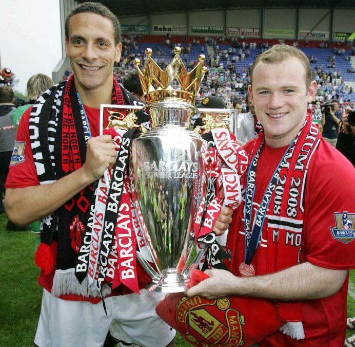 Wayne Rooney et Rio Ferdinand