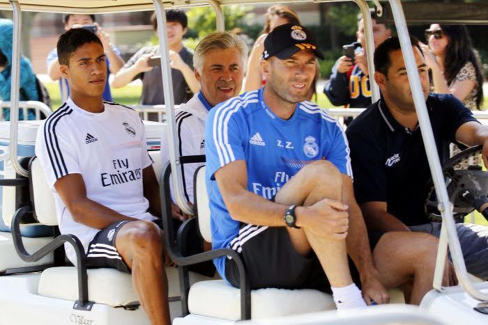 Raphaël Varane et Zinédine Zidane, Real Madrid