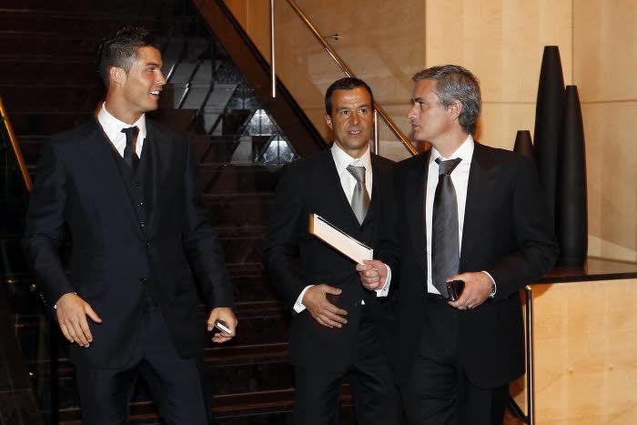 Jorge Mendes, au milieu de ses deux plus grands clients