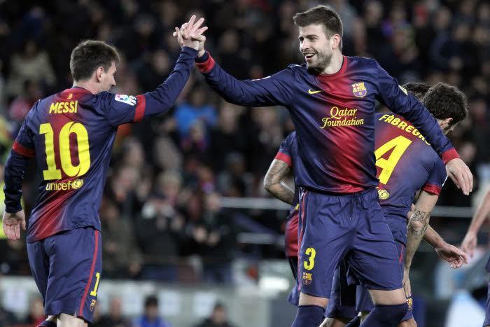 Lionel Messi et Gerard Piqué, Barcelone