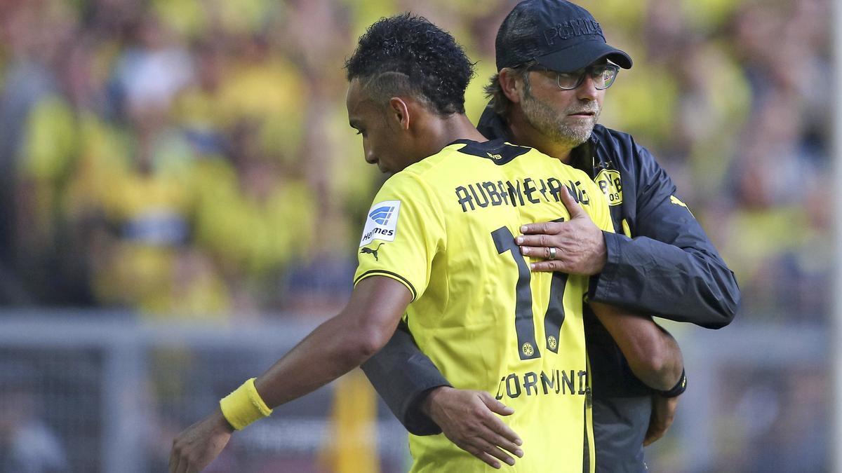 Pierre-Emerick Aubameyang & Jurgen Klopp, Borussia Dortmund