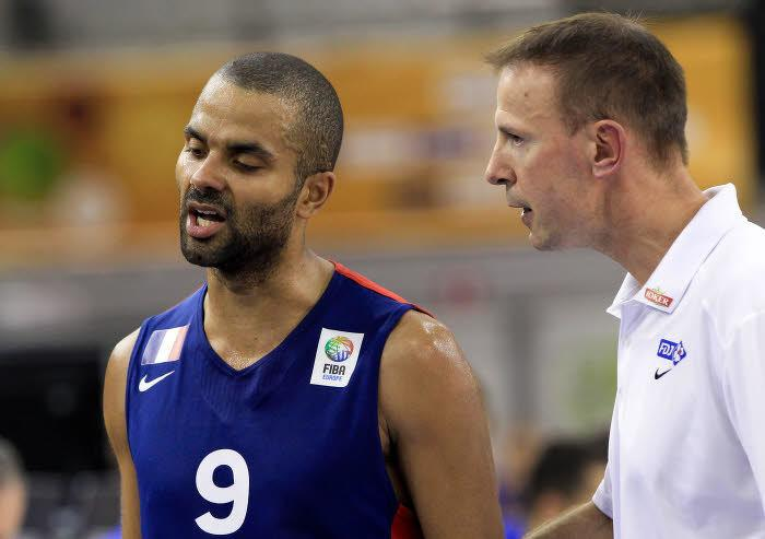 Tony Parker et Vincent Collet, équipe de France